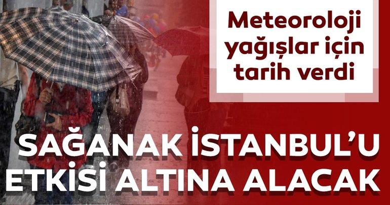 Meteoroloji'den son dakika hava durumu raporu! İstanbullular dikkat yağmur geliyor