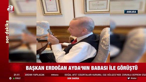 Son dakika! Başkan Erdoğan, minik Ayda'nın babasıyla görüştü | Video