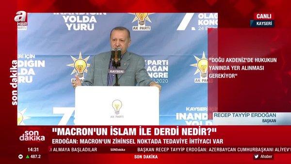 Son dakika! Cumhurbaşkanı Erdoğan'dan Macron'a sert sözler!