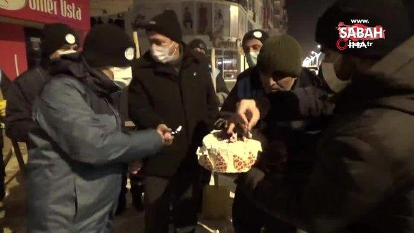 Van'da temizlik işçisine eksi 15 derecede duygulandıran doğum günü sürprizi | Video