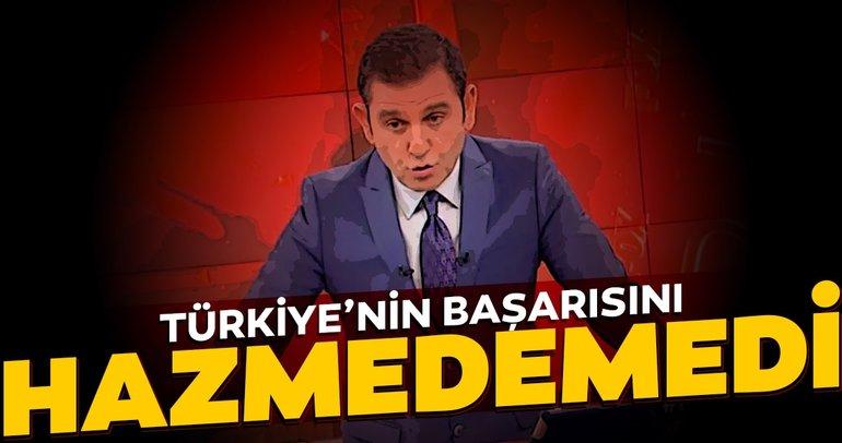 FOX TV haber sunucusu Fatih Portakal Türkiye'nin başarısını hazmedemedi