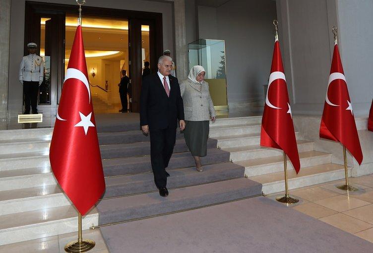 Başbakan Binali Yıldırım, Çankaya Köşkü'nde şehit aileleriyle iftarda bir araya geldi