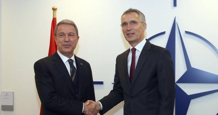 Akar, NATO Genel Sekreteri Stoltenberg'le görüştü