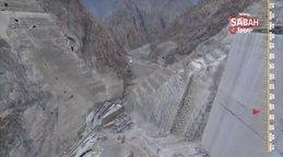 Yusufeli Barajı ve Hidroelektrik Santrali Projesi havadan görüntülendi