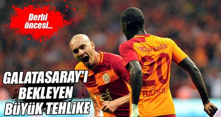 Galatasaray'da derbi öncesi büyük tehlike!