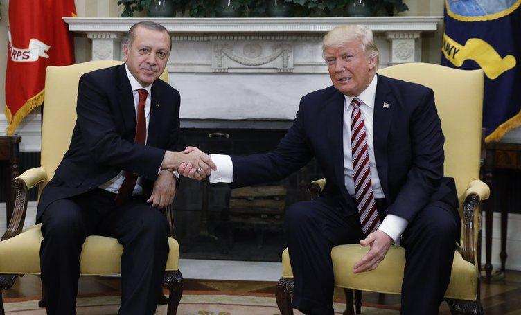 Erdoğan-Trump görüşmesinden ilk kareler