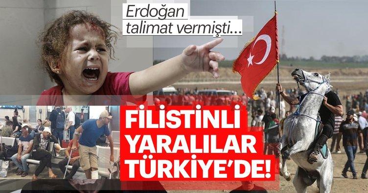 Erdoğan talimat verdi! Filistinli yaralılar Türkiye'de...