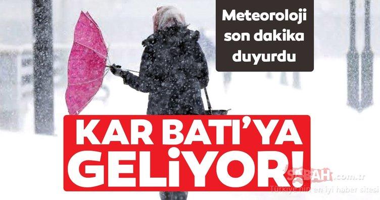 Meteoroloji'den son dakika sağanak ve kar yağışı uyarısı yapıldı! Kar Batı'ya geliyor