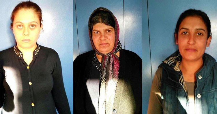 Cezaevinden çıkan 3 kadın yine hırsızlıktan yakalandı