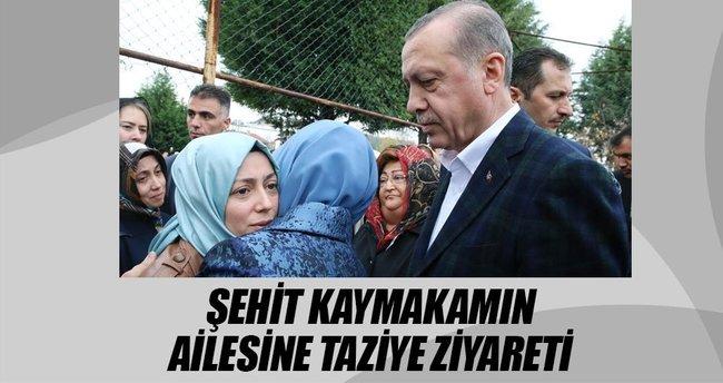 Erdoğan'dan şehit kaymakamın ailesine taziye ziyareti