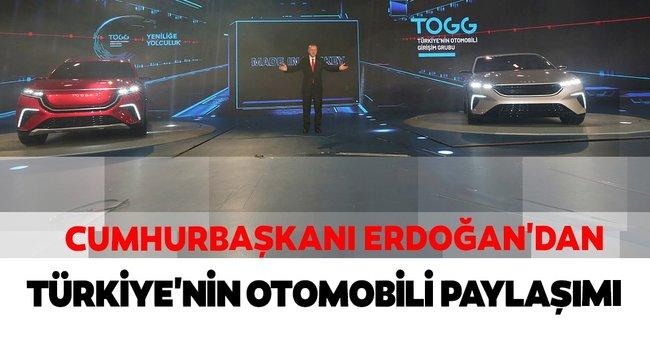 Cumhurbaşkanı Erdoğan'dan Türkiye'nin Otomobili paylaşımı