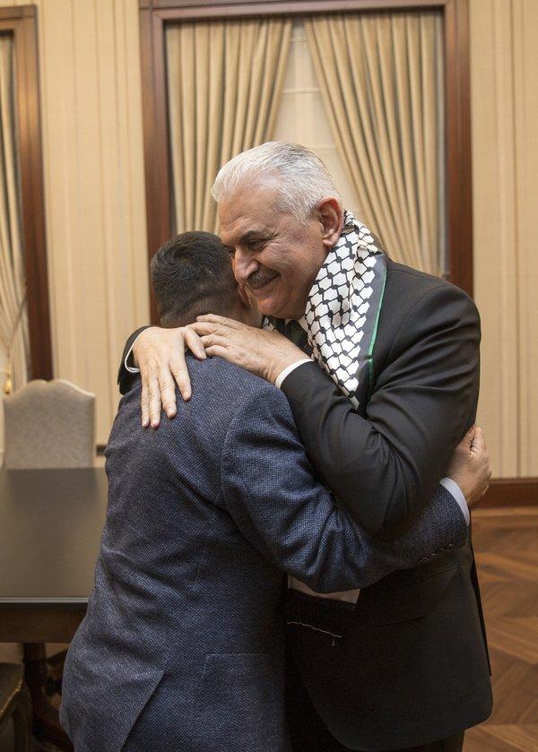 Başbakan Yıldırım, down sendromlu Filistinli genci kabul etti