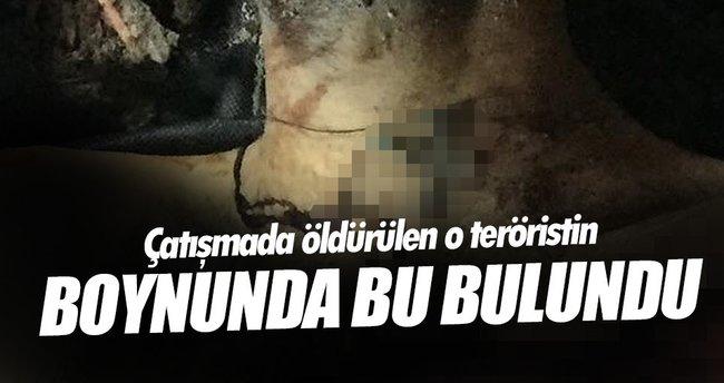 Etkisiz hale getirilen teröristin boynunda haç kolye bulundu