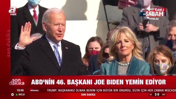 Son Dakika: ABD'nin 46'ıncı Başkanı Joe Biden yemin etti | Video