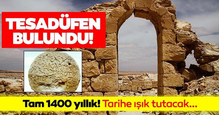 Tesadüfen bulundu! İsrail'de bulunan 1400 yıllık taş tarihe ışık tuttu