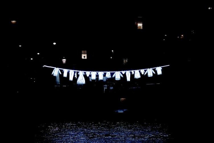 Amsterdam'da ışık sanat festivali