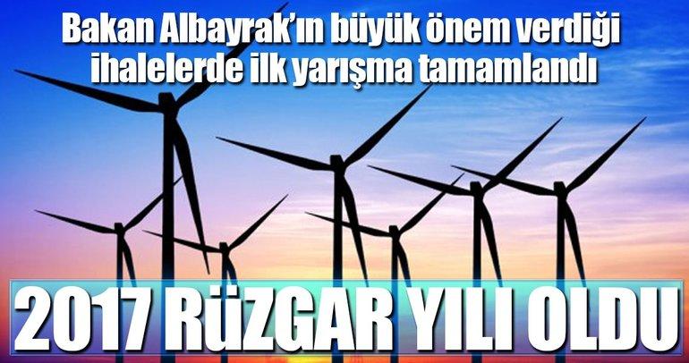 2017'de rüzgâr enerjiden yana esti