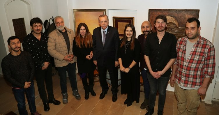 Erdoğan'dan Hasan kaçan'a ziyaret
