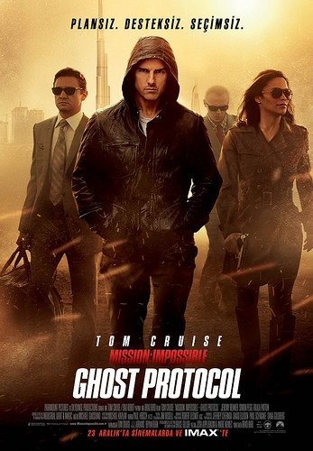 Mission: Impossible Ghost Protocol filminden kareler
