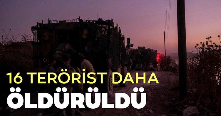 16 terörist daha öldürüldü
