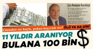 İstanbul'da 11 yıl önce kaybolduğu öne sürülen Ramazan Kocakaya'yı arayan ailesi, 100 bin dolar ödül vereceğini açıkladı