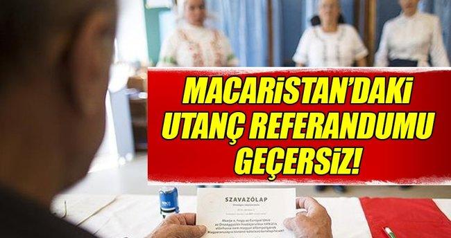 Macaristan'daki utanç referandumu geçersiz oldu!