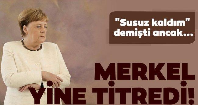 Merkel'in zor anları!