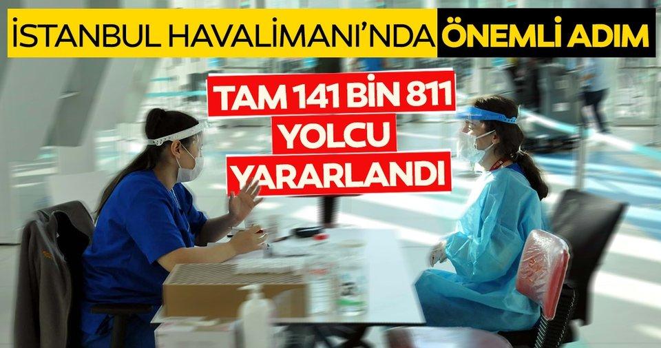 Son dakika: İstanbul Havalimanı koronavirüs test merkezinden 141 bin 811 yolcu hizmet aldı