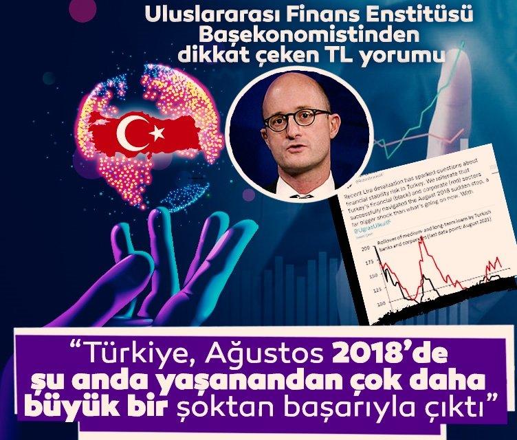 Uluslararası Finans Enstitüsü Başekonomisti Brooks'tan Türk lirası değerlendirmesi