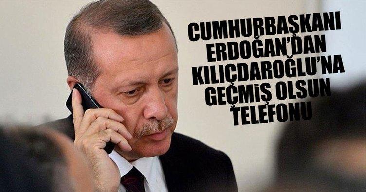 """Erdoğan'dan Kılıçdaroğlu'na """"Geçmiş olsun"""" telefonu"""