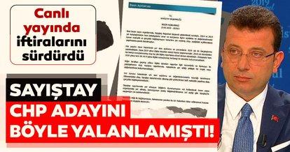 Sayıştay'ın o raporu Ekrem İmamoğlu'nun iftiralarını yalanladı...