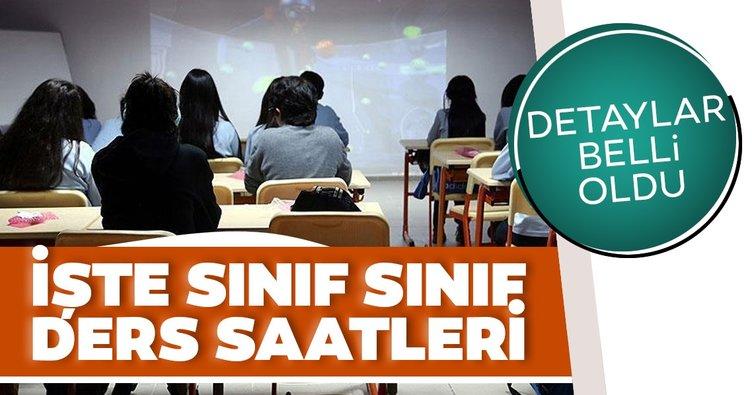 Son dakika haberi: Okullarda yüz yüze eğitim ikinci aşamanın ayrıntıları belli oldu! Sınıf sınıf ders saatleri...