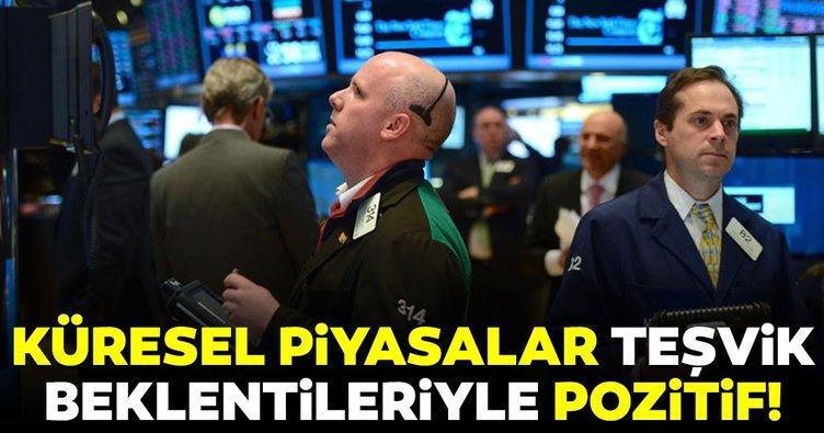 Küresel piyasalar teşvik beklentileriyle pozitif seyrediyor