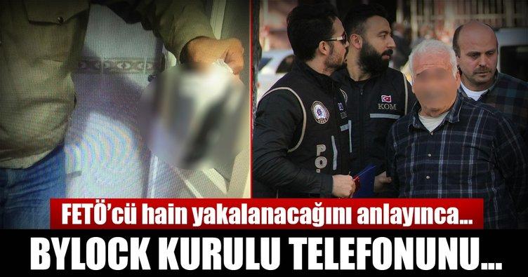 Gaybubet evinde saklanan FETÖ'cü ByLock kurulu telefonu tuvalete attı