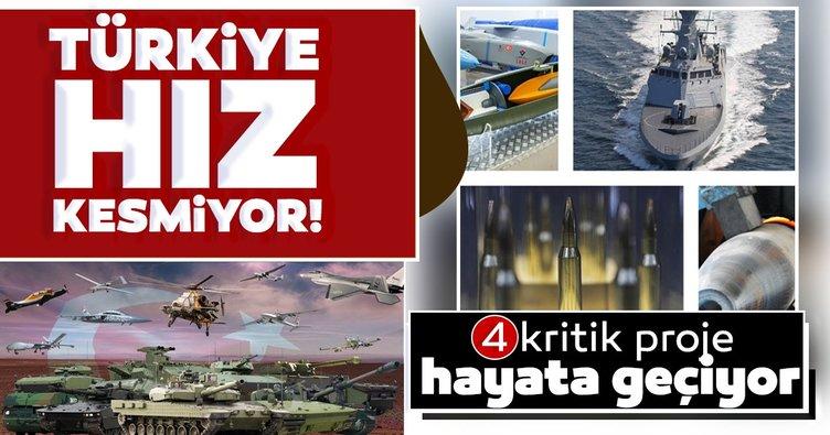 Türkiye hız kesmiyor! Savunma sanayiinde 4 kritik proje hayata geçiyor