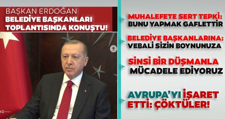 Başkan Recep Tayyip Erdoğan'dan corona virüsü önlemleri ile ilgili flaş açıklamalar!