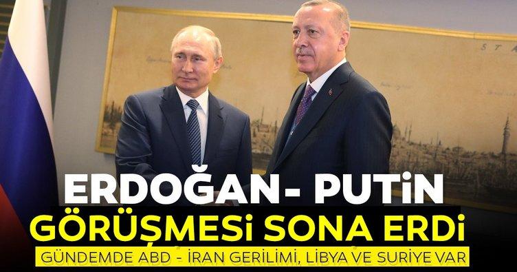 Son dakika haberi: ABD İran gerilimi sonrası Erdoğan ve Putin görüşmesi sona erdi