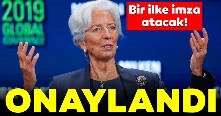 ECB'den Christine Lagarde'ın yeni başkan atanmasına onay!