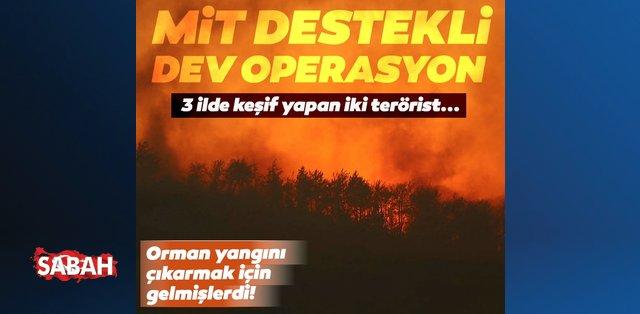 Son dakika: Keşif yapıp orman yangını çıkaracaklardı! MİT operasyonuyla yakalandılar