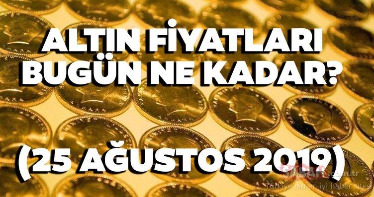 Altın fiyatları bugün ne kadar? 25 Ağustos Pazar gram tam ve çeyrek altın fiyatları burada!