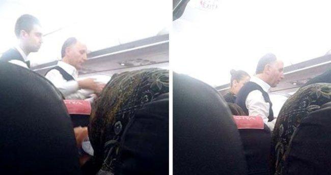 Muharrem Usta'dan uçakta rahatsızlanan kişiye acil müdahele