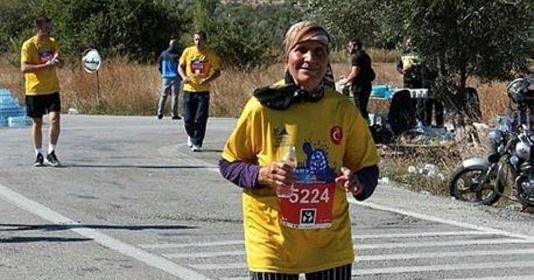 Makbule Kababıyık 80 yaşında maratondan maratona koşuyor