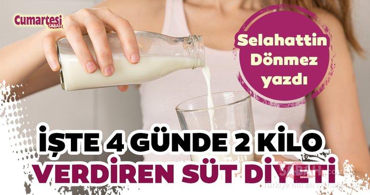 Süt diyeti nasıl yaplır? İşte 4 günde 2 kilo verdiren süt diyeti