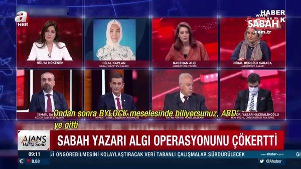 Habertürk'ten Sabah Gazetesi YazarıHilal Kaplan'a canlı yayında skandal sansür | Video