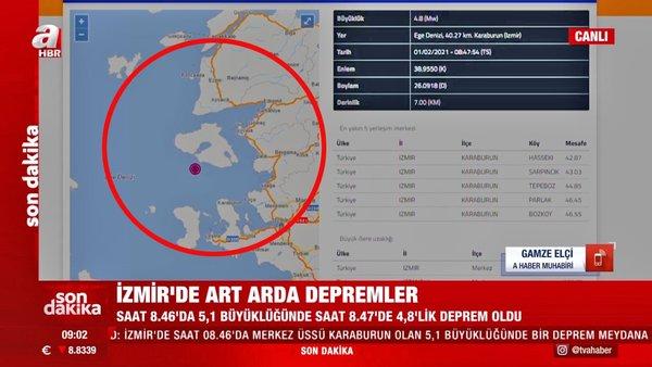 Son dakika: İzmir'de art arda korkutan depremler! 5,1 ve 4.8... AFAD ve Kandilli Rasathanesi son depremler...   Video