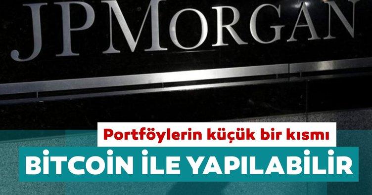 JPMorgan: Yatırımcılar portföylerinin küçük bir kısmını Bitcoin ile yapabilirler