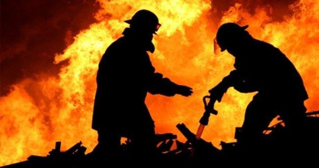 Kazakistan'da yangın