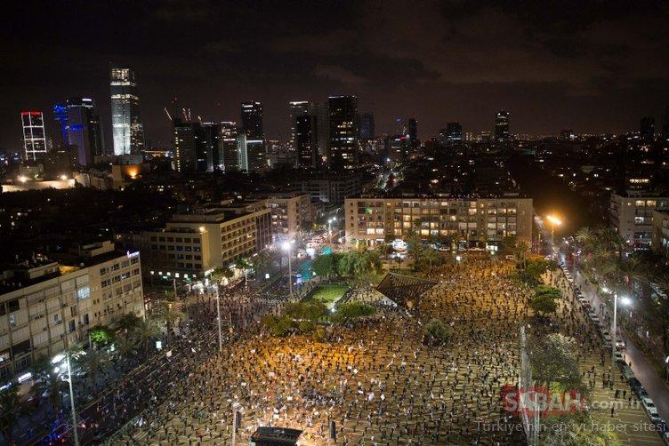 İsrail'de 'Kara Bayraklar' Netanyahu için toplandı
