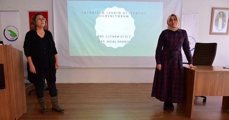 Düzce Üniversitesi'nde kentin kültürüyle ilgili çalışma