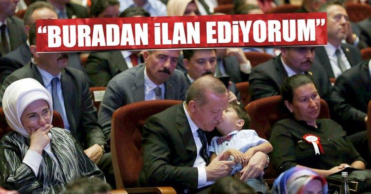 Cumhurbaşkanı Erdoğan herkesi demokrasi nöbeti için meydanlara çağırdı